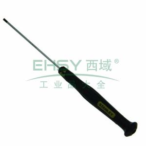 史丹利 一字微型防静电螺丝批3.0x80mm,66-416-23