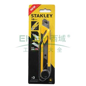 史丹利 旋钮双色柄美工刀18mm (3刀片),STHT10268-8-23