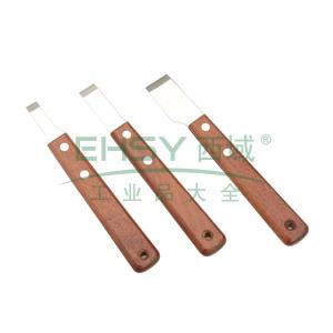 力易得 不锈钢木柄刮刀10mm,E9840
