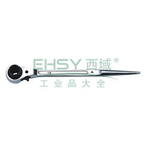 长城精工 尖尾棘轮扳手,14*17mm,427604