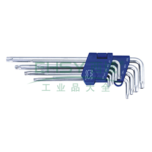 长城精工 花型加长内六角扳手组套,9件套 T10-T50,338109