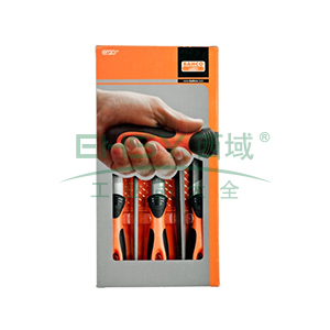 百固BAHCO锉刀组套,5支8寸中齿,1-477-08-2-2,1 套