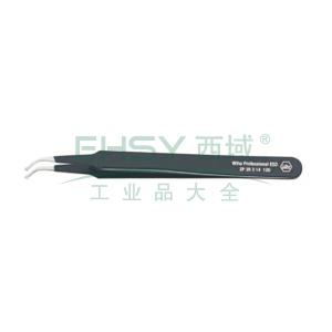 威汉防静电表面贴装镊子,弯头 长120mm,32337