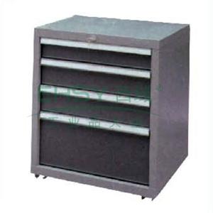 力易得 带轮工具柜,4抽屉 550x550x700mm,E8164