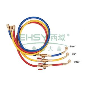 三色胶管,格美,CM-360-RYB-HV,带球阀,适用R410