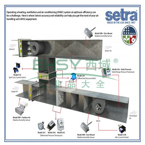 墙装温湿度变送器,Setra,SRH13PW11T1