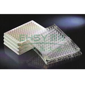 用于荧光检测的Nunc96孔酶标板,每板96孔,聚苯乙烯,外部尺寸:128*86mm,规格,C96,颜色,透明,表面,MaxiSorp