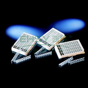 Nunc-ImmunoTMLockWellTMFluoronuncTM/LuminuncTM板条,带框,每框96孔,聚苯乙烯,外部尺寸:128*86mm,规格,C8,表面MaxiSorp,颜色,黑色