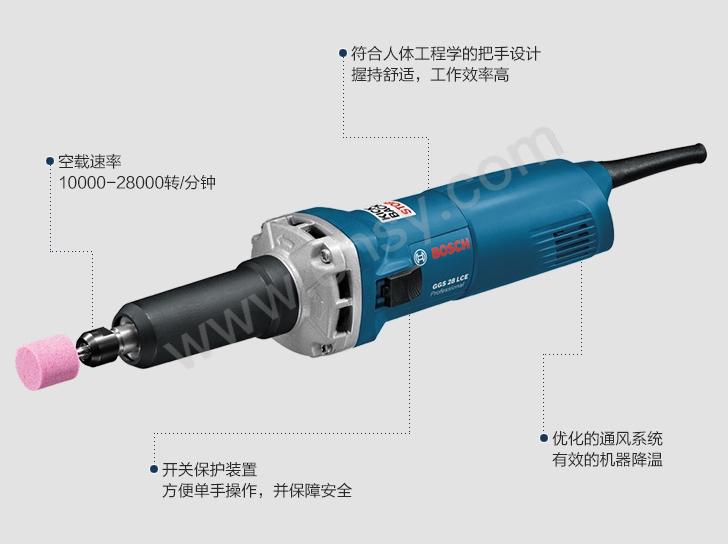 博世手电钻 夹头 使用_博世电磨头,加长型 夹头6mm 10000-28000转/分钟,GGS 28LCE,0601221180 ...