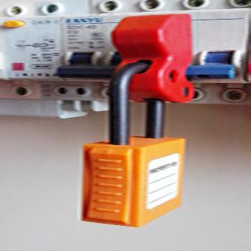 万用微型断路器锁具,尼龙塑料材质,挂锁孔径:8mm,E15