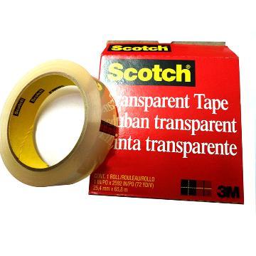 3M单面未增塑聚氯乙烯测试胶带, 透明 宽度25.4mm 长度65.8mm