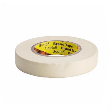 3M单面平滑美纹纸高温遮蔽胶带, 米黄色 宽度36mm 长度55m