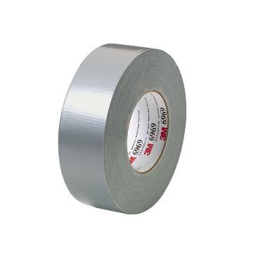 3M单面聚乙烯涂覆布布基胶带, 银灰色