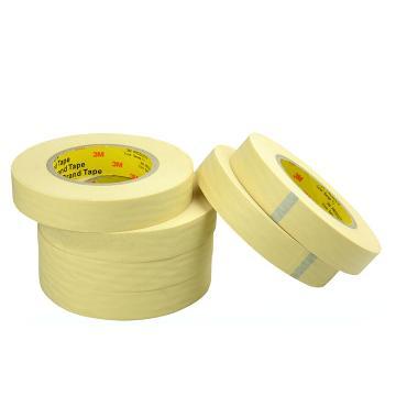 3M单面平滑美纹纸高温遮蔽胶带, 米黄色 宽度15mm 长度55m