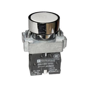 施耐德 金属平头按钮,XB2BA11C