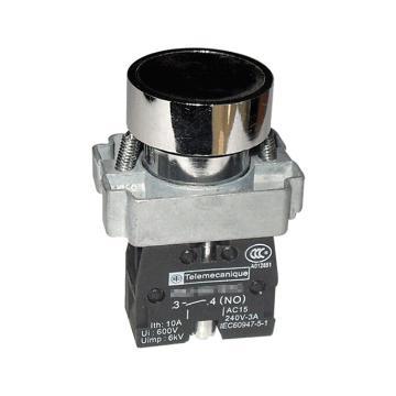 施耐德 金属平头按钮,XB2BA22C