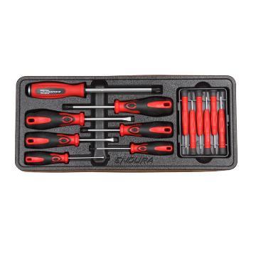 力易得工具托套装,13件螺丝批工具托组套, E1919