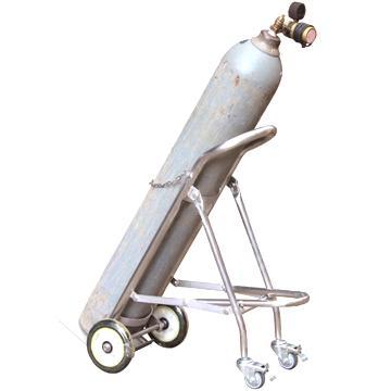 201不锈钢单气瓶搬运车,载重120KG,气瓶直径140-300mm