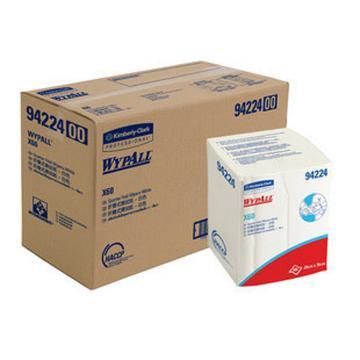 擦拭布,WYPALL  X60 全能型擦拭布,折叠式 100张/包 8包/箱