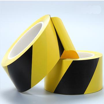 警示胶带,75mm*22m,黑/黄