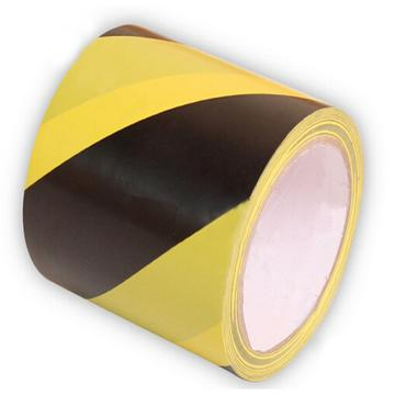 警示胶带,100mm*22m,黑/黄