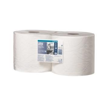 多康 高级重任务擦拭纸卷式,白色 (340*235mm 500张) 170米/卷 2卷/袋