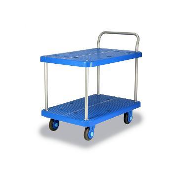 全静音双层单扶手车板式手推车,轮子类型:静音轮,承重(kg):300KG