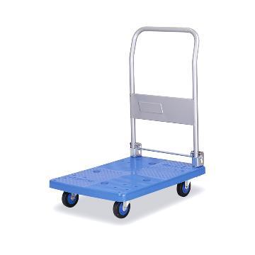 全静音单层折倒式手扶手推车,铁支架轮,200KG