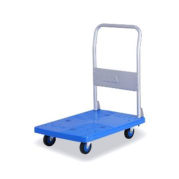 全静音单层固定式手扶手推车,铁支架轮,300KG