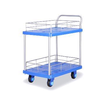 连和 双层护栏式单扶手超静音手推车 载重(kg):150 车板尺寸(mm):730×490,PLA150-T2-HL2
