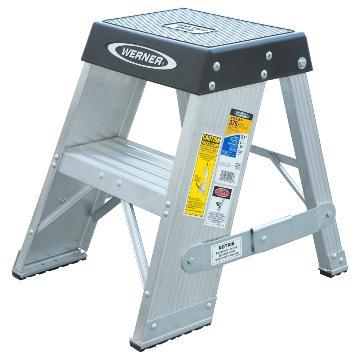 稳耐 铝合金梯凳,踏板数:2,额定载荷(KG):170,工作高度(米):0.51,SSA02CN
