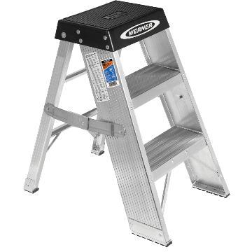 稳耐 铝合金梯凳,踏板数:3,额定载荷(KG):170,工作高度(米):0.76,SSA03CN