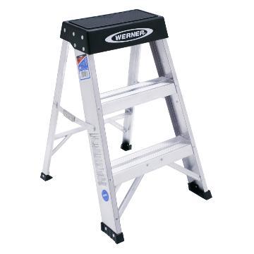 稳耐 铝合金梯凳,踏台数:3,额定载荷(KG):136,工作高度(米):0.61,150BCN