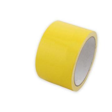 黄色PVC地面胶带,75mmx22m