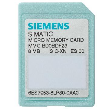 西门子SIEMENS 存储卡MMC卡,6ES7953-8LL31-0AA0