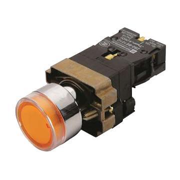 施耐德 XB2 带灯按钮(24VDC)(ZB2BWB51C+ZB2BW35C),XB2BW35B1C