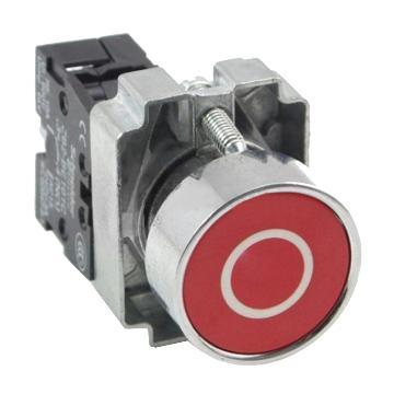 施耐德 金属带符号平头按钮,XB2BA4322C