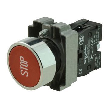 施耐德 金属带符号平头按钮,XB2BA4342C