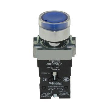 施耐德 XB2 带灯按钮(24VDC)(ZB2BW36C+ZB2BWB61C),XB2BW36B1C