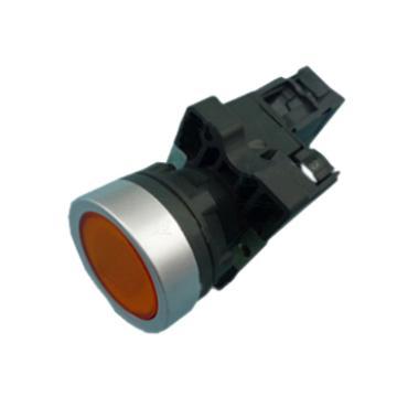 施耐德Schneider 平头带灯按钮,XA2EW35M1 220VAC 黄色 1NO(10的倍数订货)