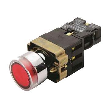 施耐德 XB2 带灯按钮(220VAC)(ZB2BWM41C+ZB2BW34C),XB2BW34M1C