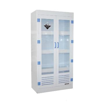 众御,酸碱试剂安全存储柜-灰色,双开门手动,带可视窗,ZYPM1800-2
