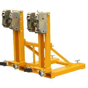 虎力 双叼扣叉车专用油桶搬运夹,承重720kg,适合油桶规格55加仑