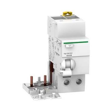 施耐德 电子式剩余电流动作保护附件,Acti9 Vigi iC65 ELE 2P 63A 100mA AC,A9V63263