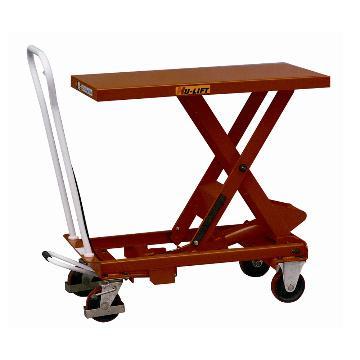 虎力 单剪式重型脚踏式液压升降平台,载重(kg):750,起升范围(mm):422-1000,台面尺寸(mm):520*1010