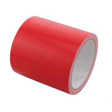地板划线胶带(红)-高性能自粘性PVC材料,红色,100mm×22m,14330