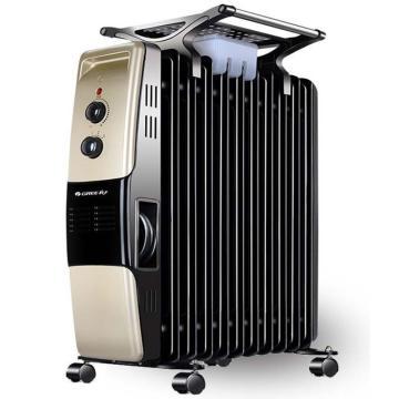 电热油汀,格力,NDY07-21(黑+金),220v,2100w,11片加热片,倾倒自动断电,3档功率可调,恒温