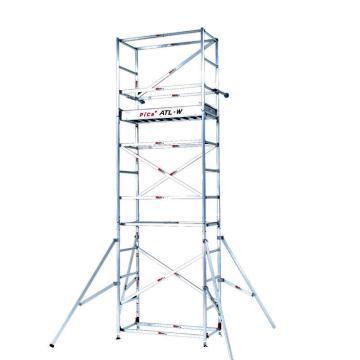 管式脚手架,(方便组装和拆卸)(防护栏-保证高空作业安全)ATL MAX 100kg 脚手架2段 总高:4.33-4.63 窄式  重量:50kg
