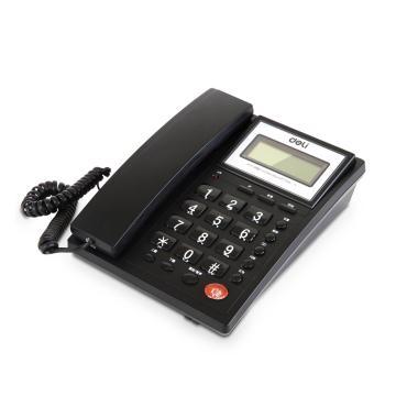 得力 电话机,786 黑色