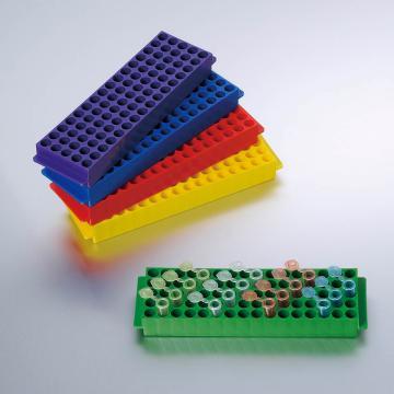 小试管架,PP,80孔,适用于1.5ml和2ml的管,5个/袋,4袋/箱